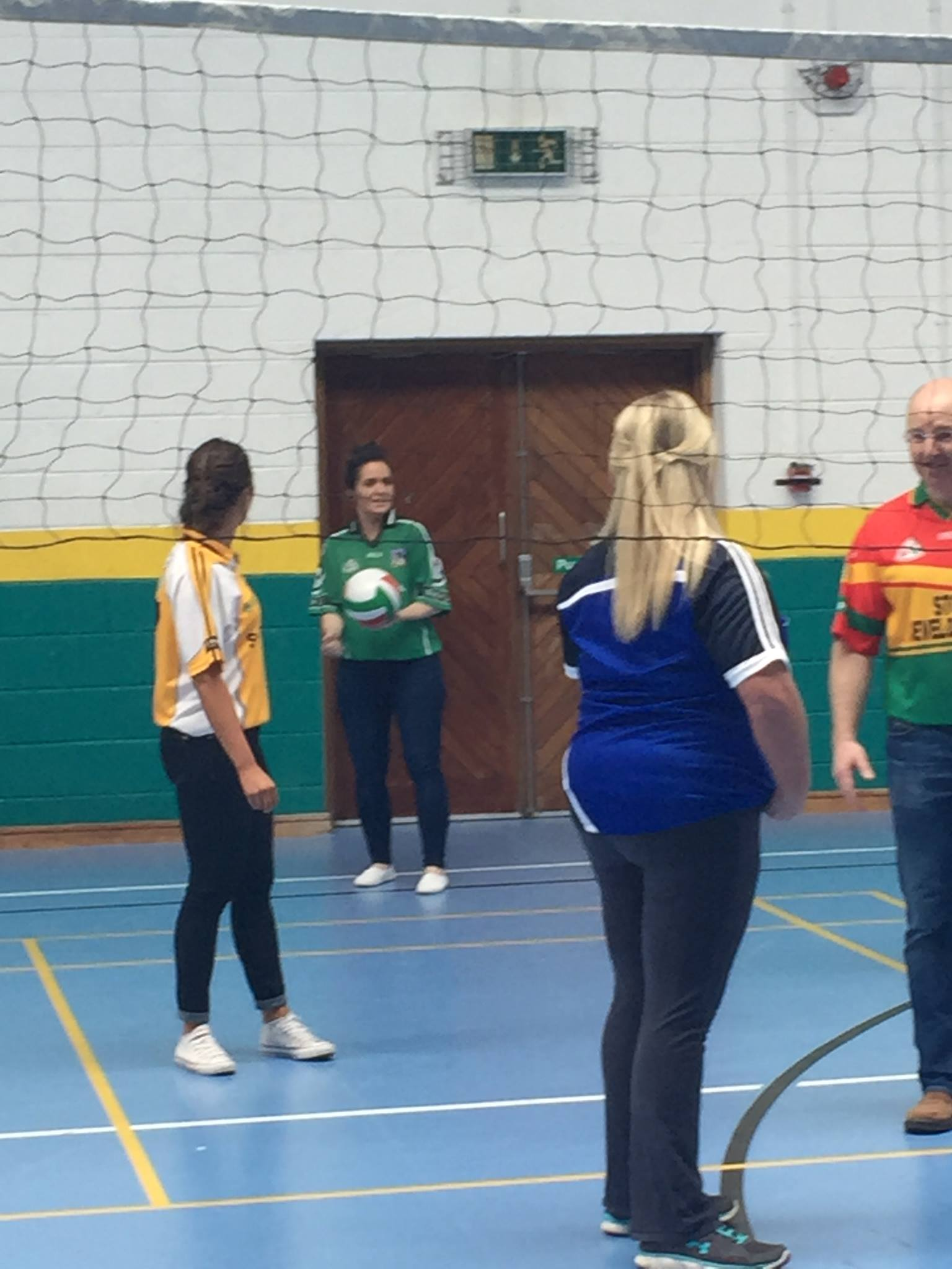 22nd April 2016: Teachers versus Students at the Desmond College Active Schools Week Volleyball Match