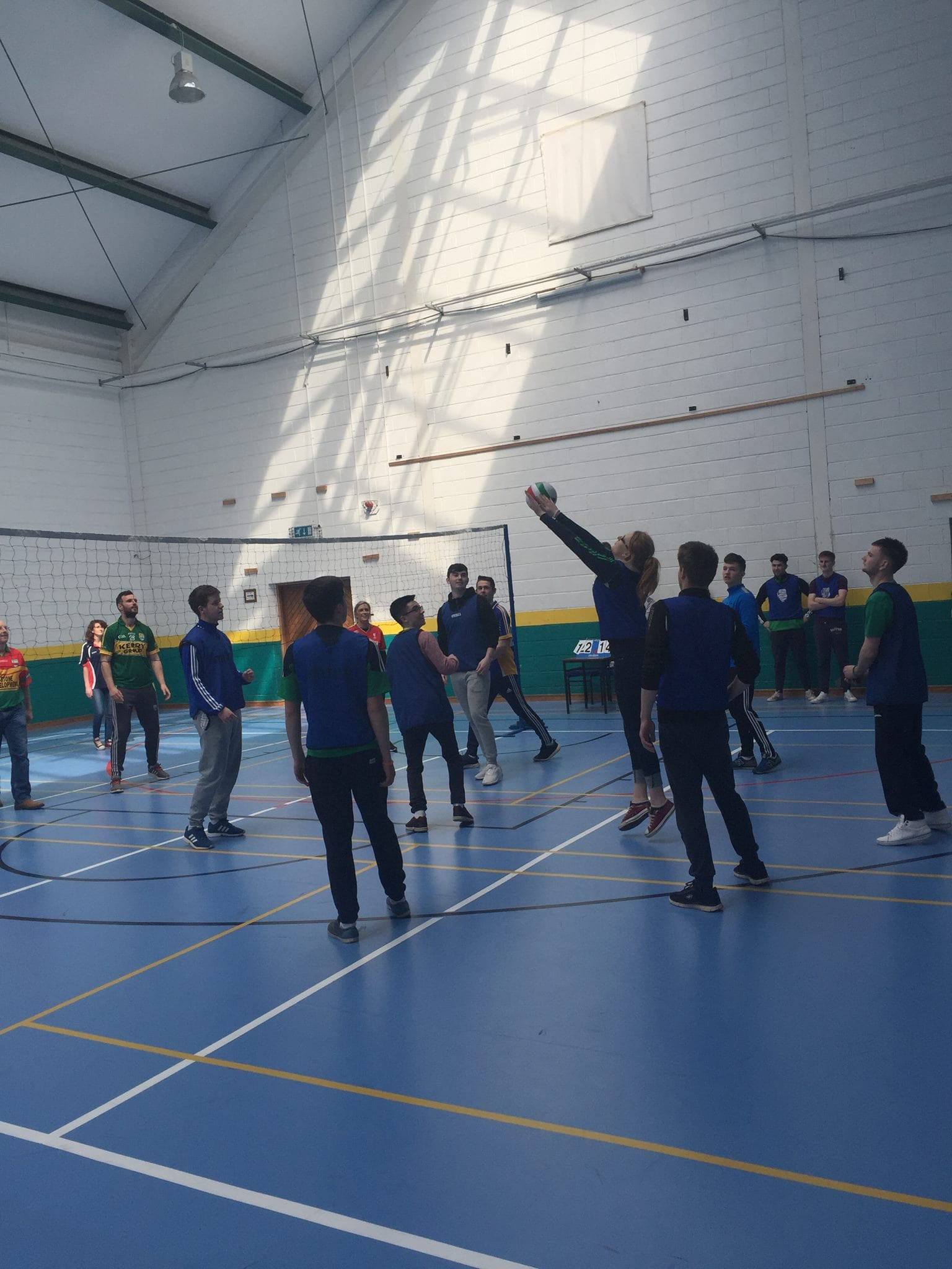 22nd April 2016: Desmond College Active Schools Week 2016: Teacher v Students Volleyball Match on Active Friday