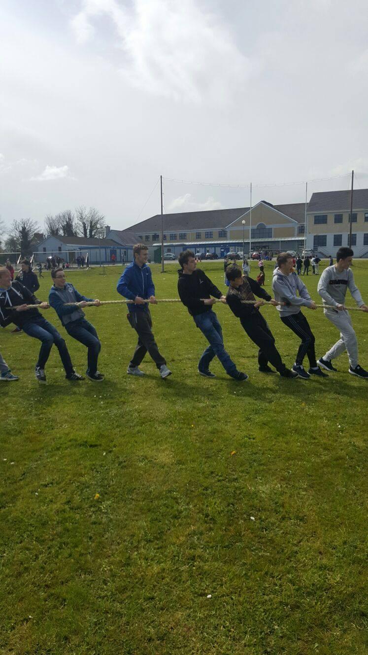 22nd April 2016: Active Schools Week 2016 Desmond College: Tug Of War