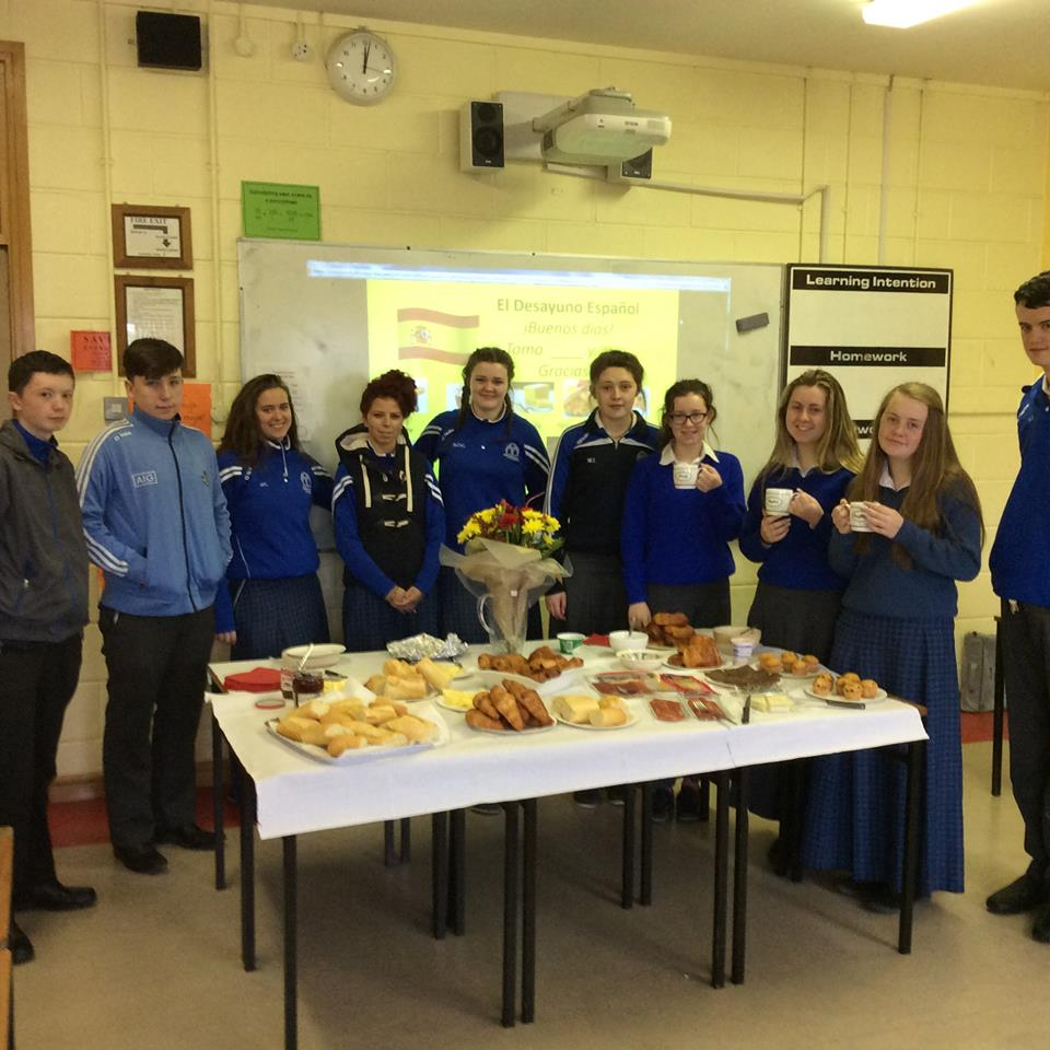 May 2016: Transition year students from Desmond College enjoying a Spanish breakfast as part of their 'Introduction to Spanish language and culture' course.