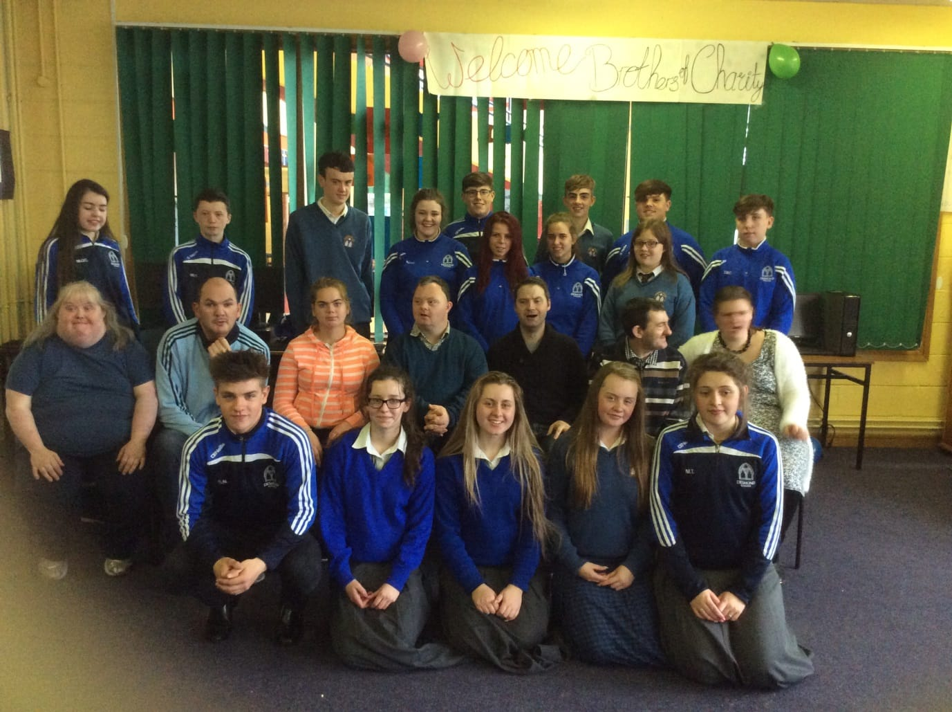 May 2016: Transition year students from Desmond College pictures with some people from the brothers of charity at the end of year celebration