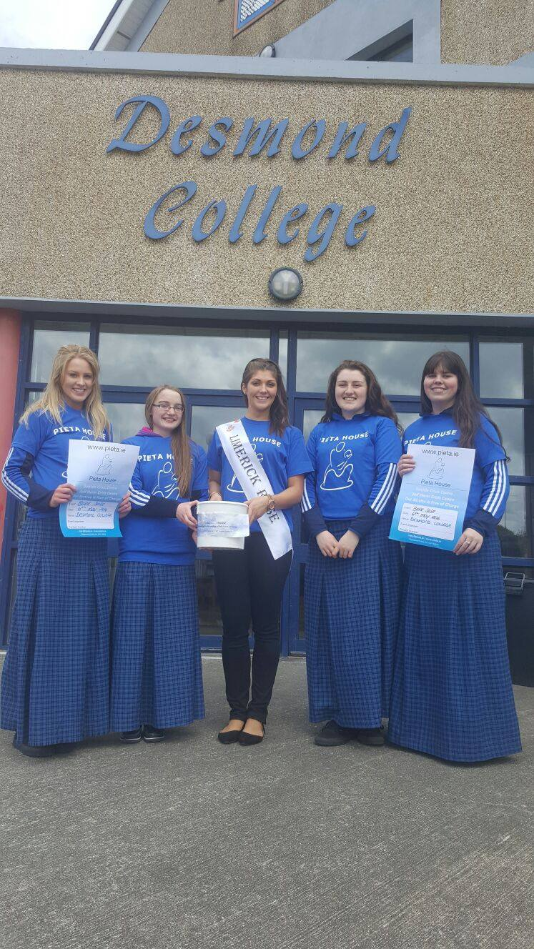 17th May 2016: Fund Raising for Pieta House by Desmond College Students
