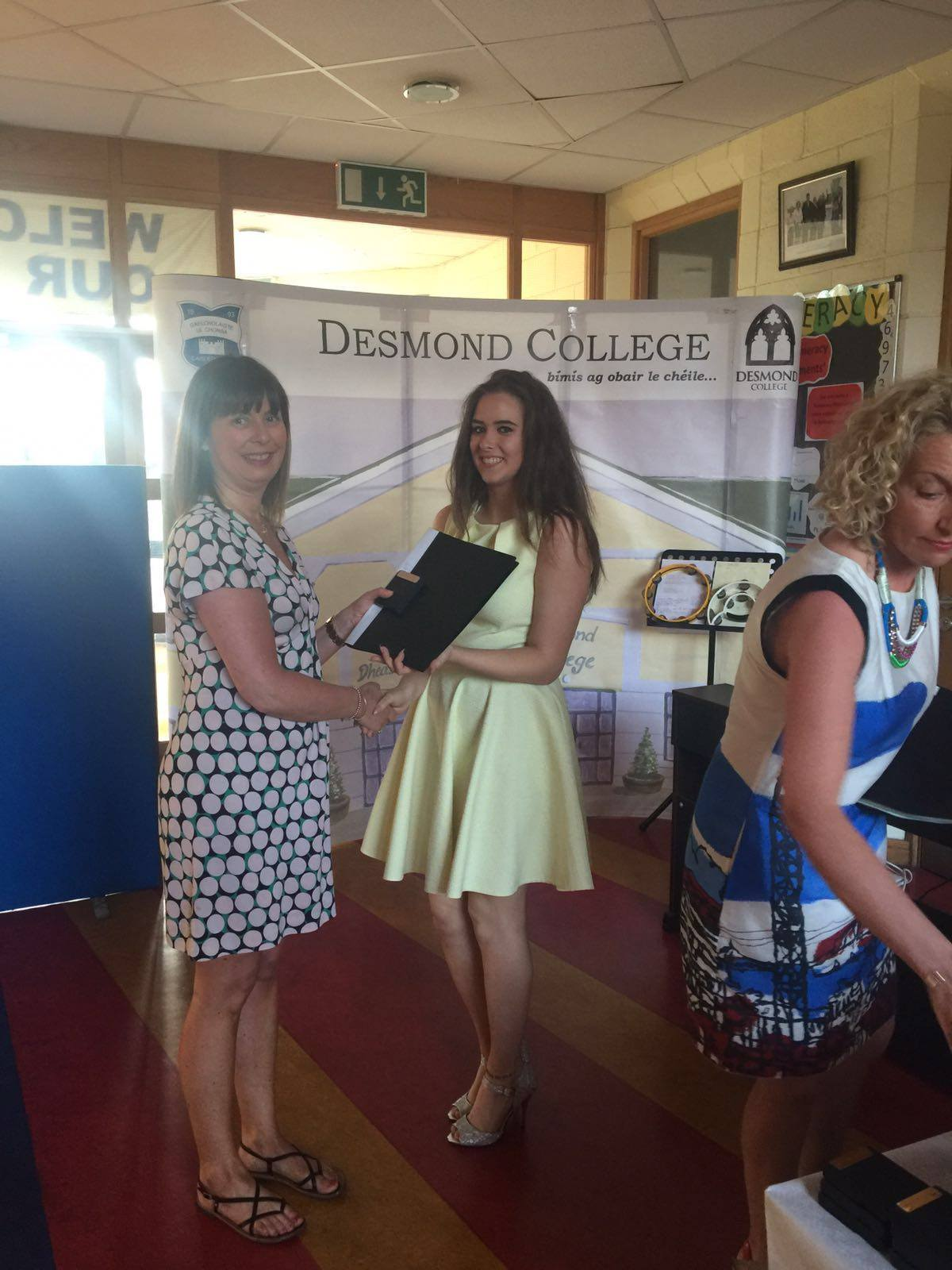 18th May 2016: Desmond College Transition Year Students of 2015-2016 at their Graduation Ceremony