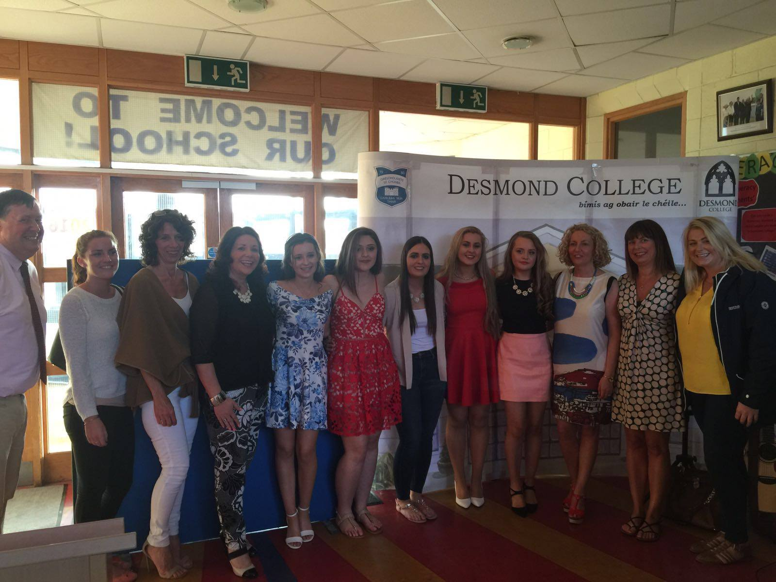 18th May 2016: Desmond College Transition Year Students of 2015-2016 at their Graduation Ceremony where they celebrated the year and also received awards