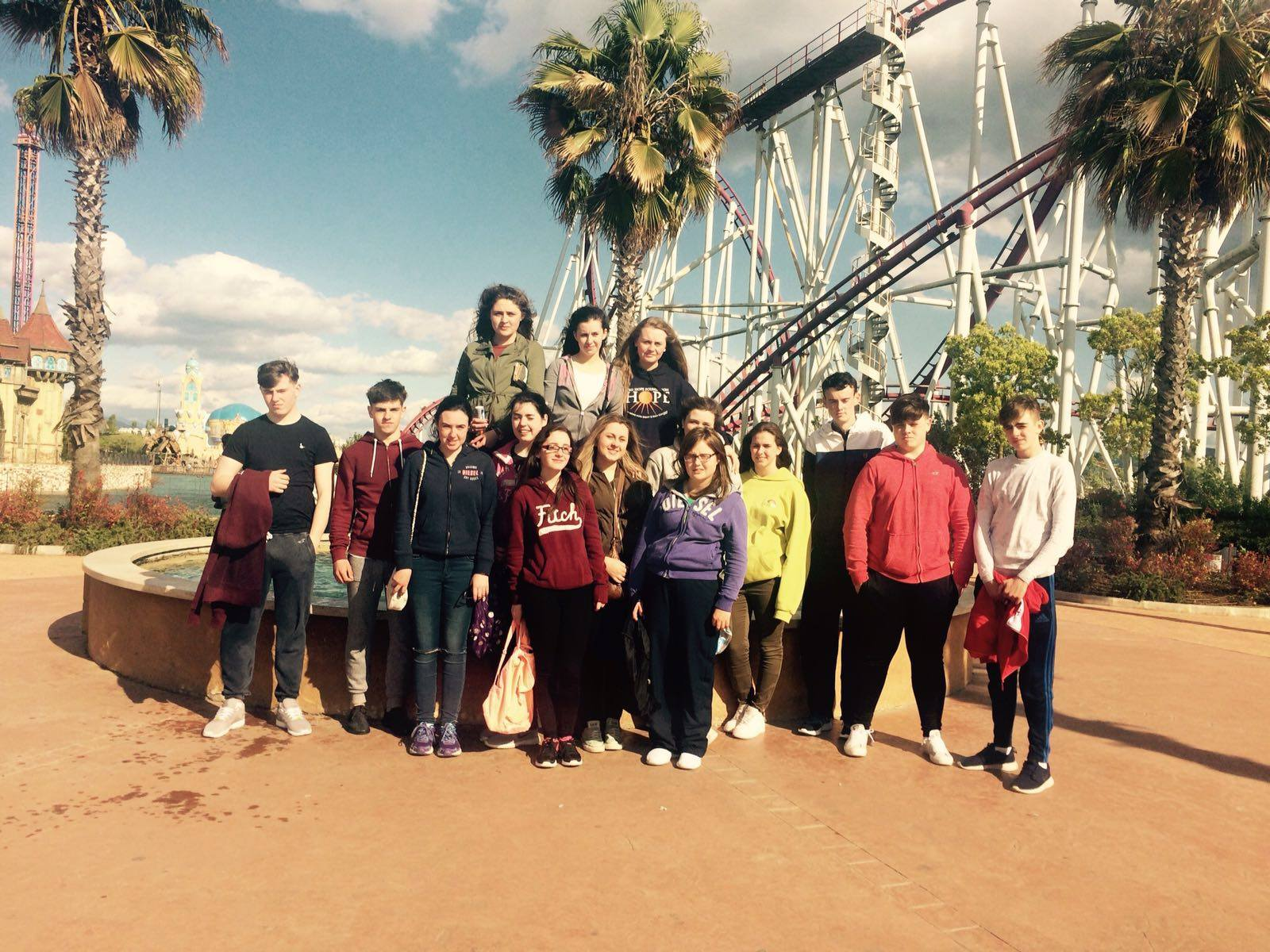 April 2016: Desmond College TY Students in Rainbow Land Amusement Park