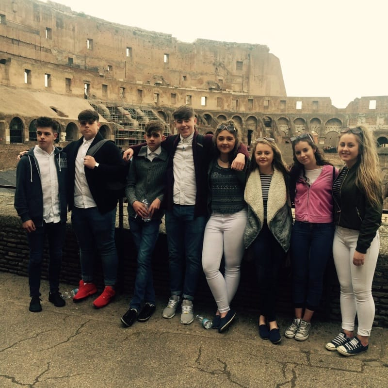 April 2016: Desmond College Transition Year Students visit Rome on their School Tour