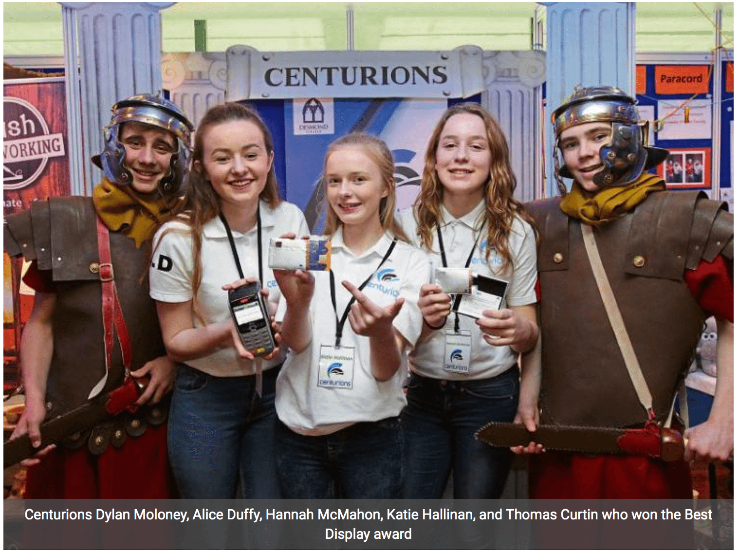 Desmond College students in the Limerick Leader for their win at the National Student Enterprise Awards 2016 (article by Norma Prenderville)