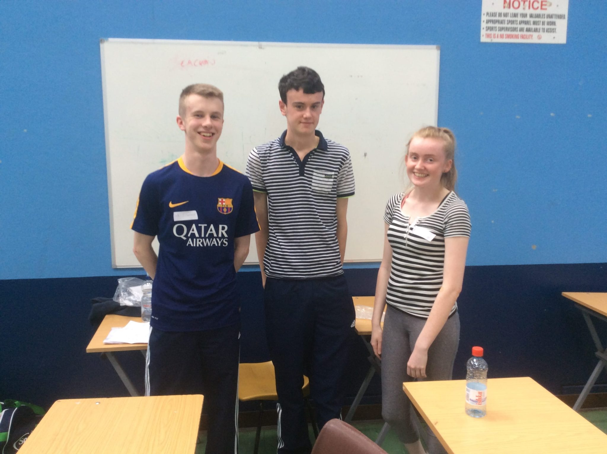 "May 2016: Desmond College students involved in the UL's research project titled ""Health Behaviours and Health Indicators in Older Adolescents"""
