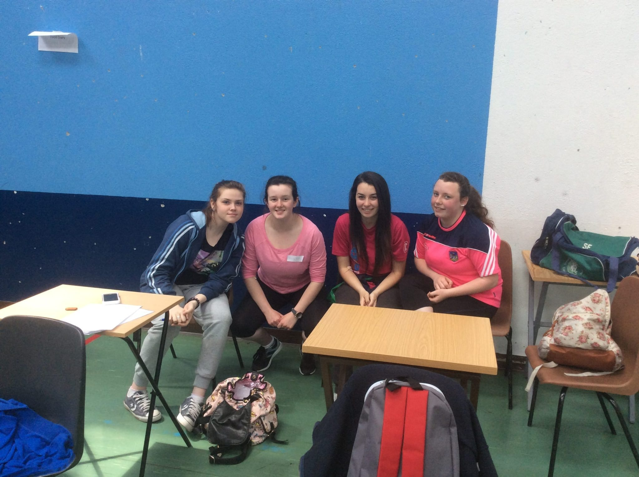 May 2016: Desmond College students involved in the UL health in Adolescence study