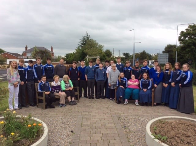 Sept 2016: Desmond College Transition Year Students pictured with Kitty McEnery, Tina Binchy, Margaret Browne, Con Collins, Mary Kirby and service users from the Brothers of Charity