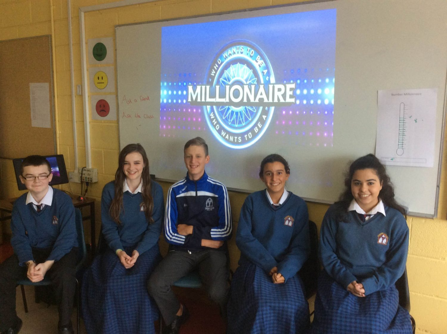 September 2016: Second Year Students play Millionaire to help practice their numeracy skills