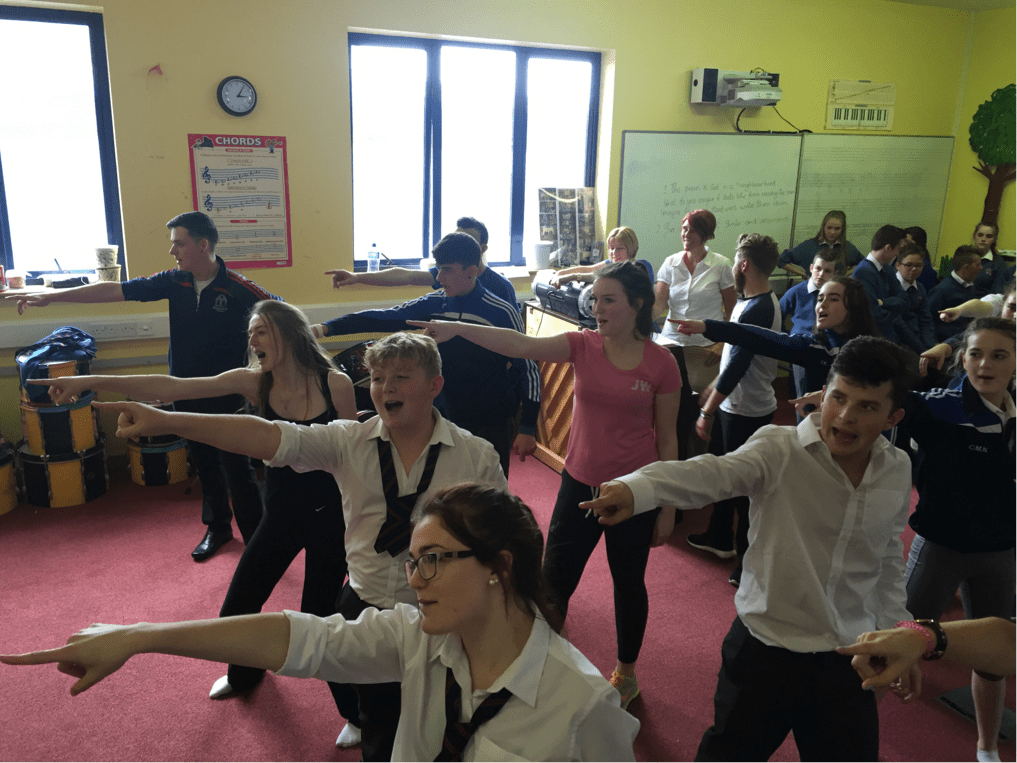 September 2016: Rehearsals in full swing for upcoming musical Hairspray at Desmond College