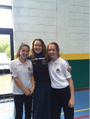 September 2016: Desmond College TY Student with her two new First Year Buddies