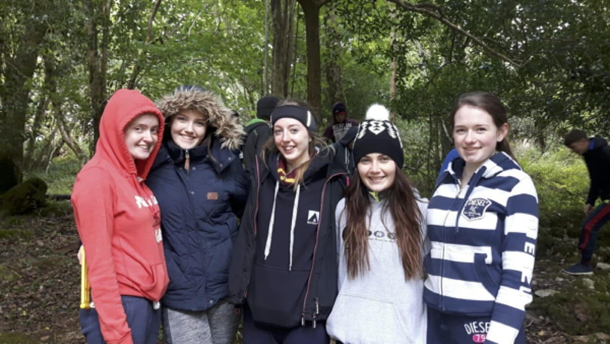 22nd Sept 2016: Niamh Liston, Roisin Nolan,Orla Wrenn, Emma Herbert and Sinead Leahy enjoying Killarney National Park