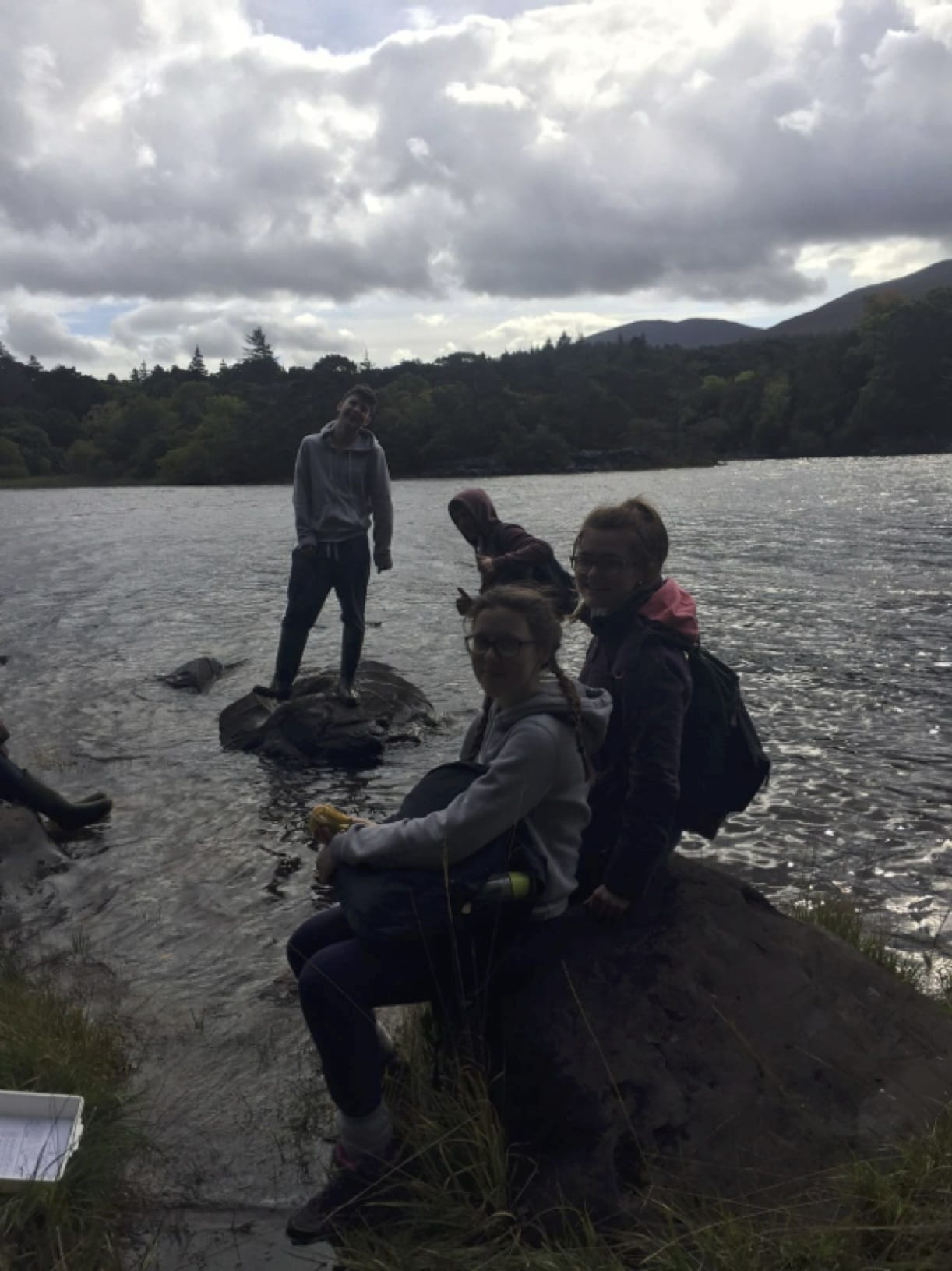 Sept 22, 2016: A well deserved break for some of Desmond College's Leaving Cert students on their Ecology Trip to Killarney National Park.