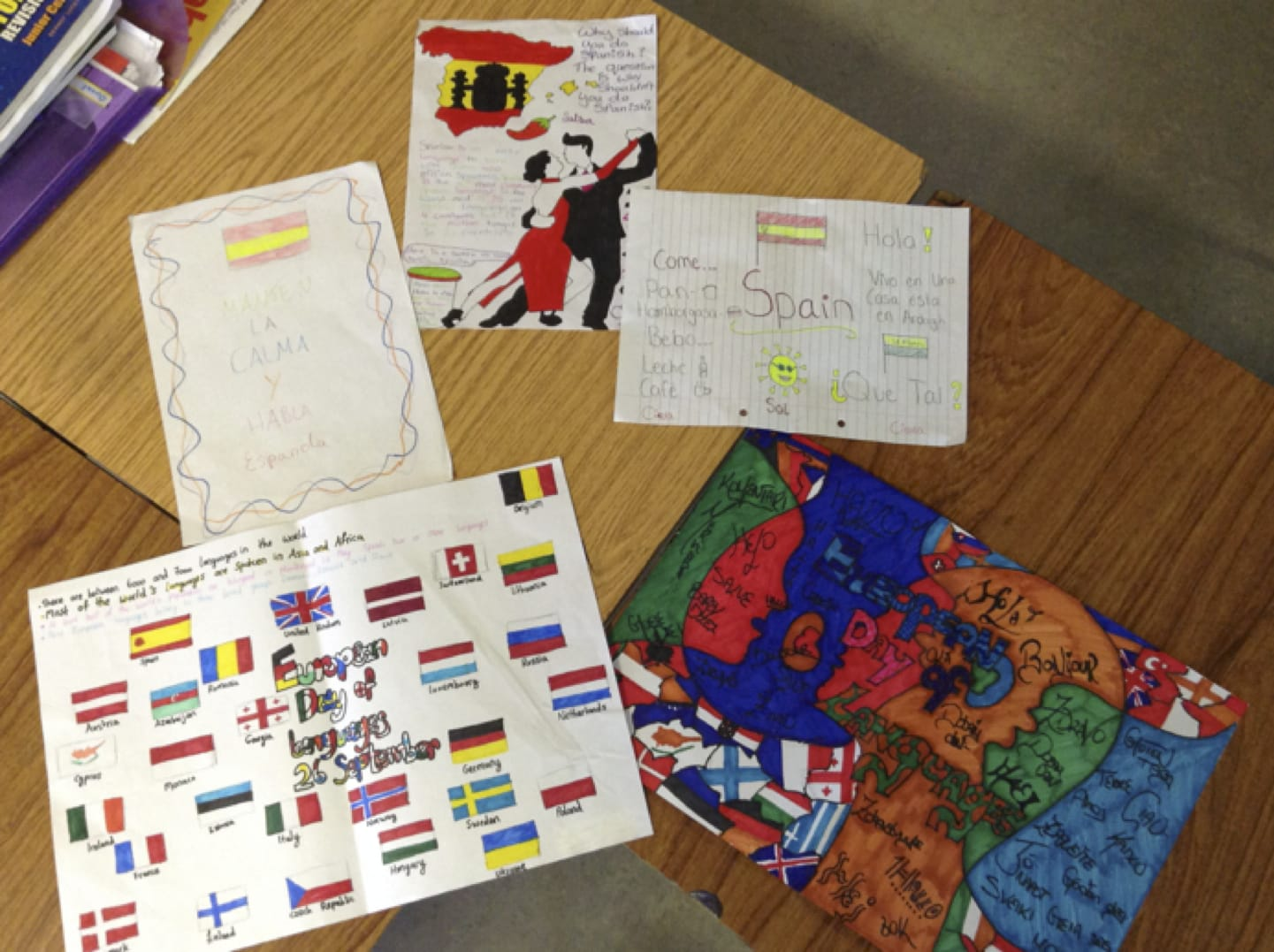 2016: A selection of Posters by the Desmond College Post Primary School Second Year Spanish Students