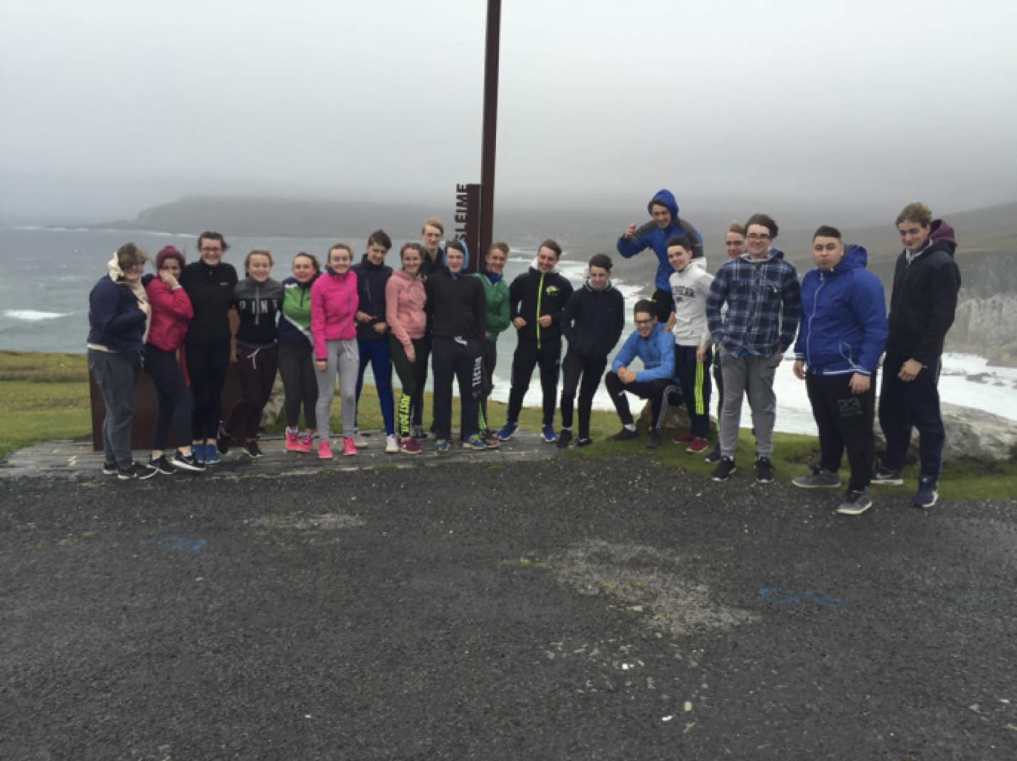 Sept 2016: Our TY class taking in the sights in Achill