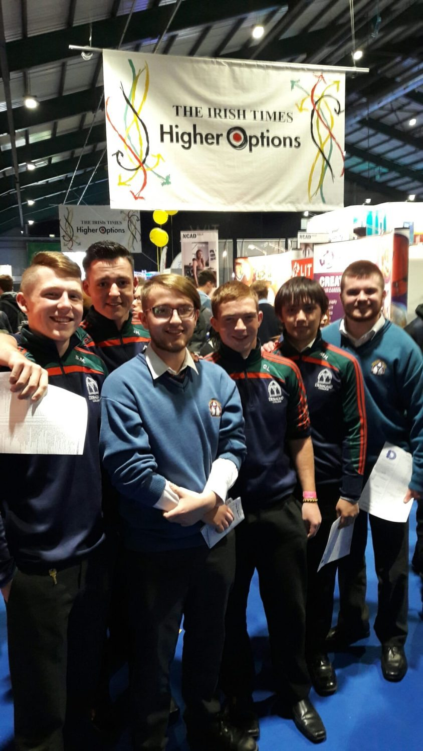16th Sept 2016: Some of our Leaving Cert students pictured at the Higher Options conference in Dublin