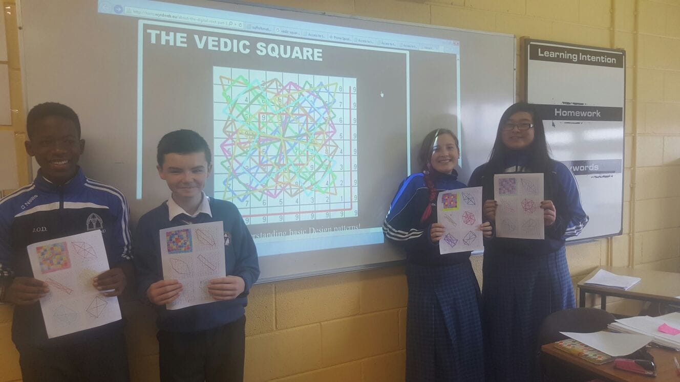 Nov 2016: Desmond College Post Primary School Students Participating in the Desmond College Maths week.