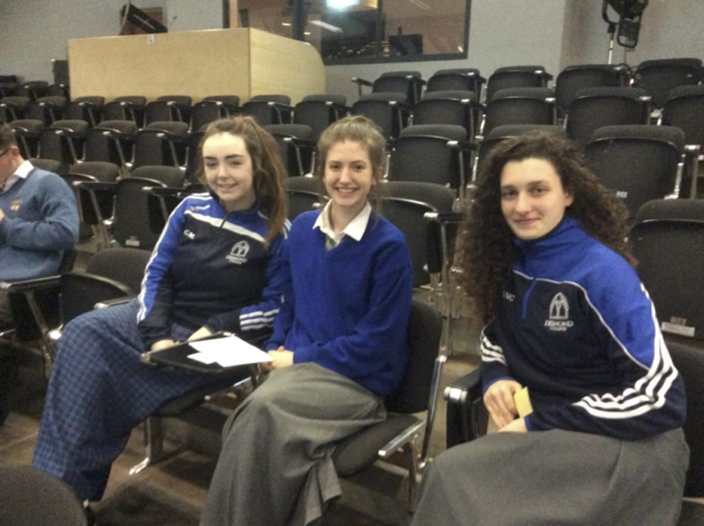 Nov 2016: Ciara Manning, Alanna Slater and Siún Ní Cheallaigh who participated in the ISTA Science Quiz as part of Science Week