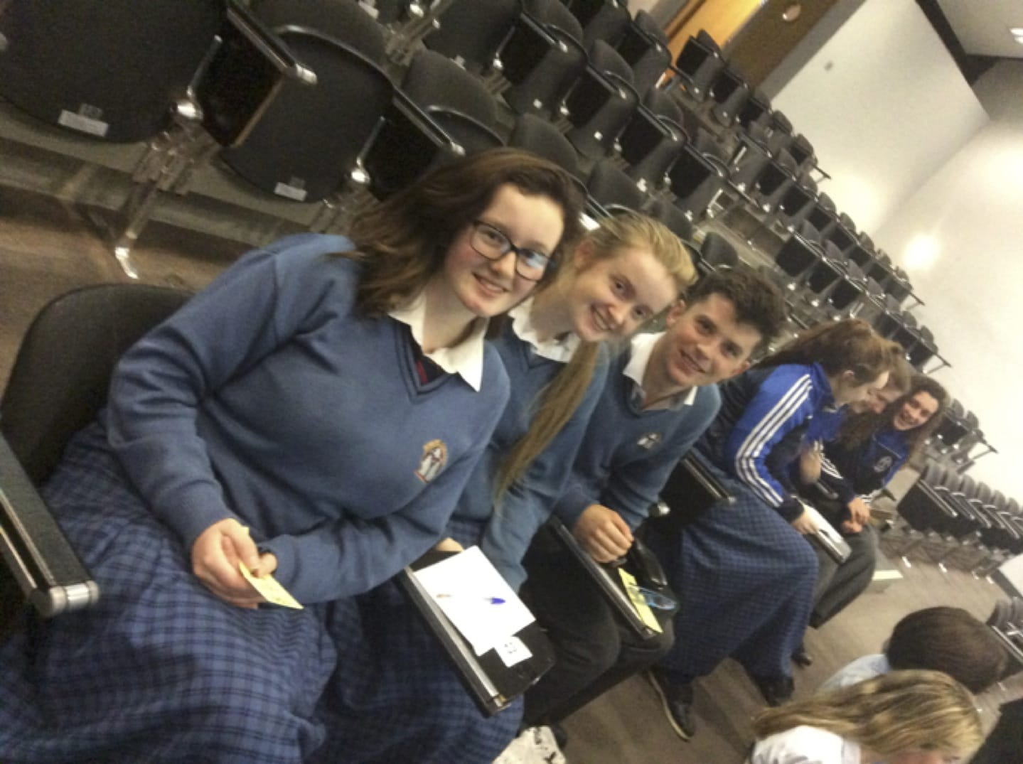 Nov 2016: Emily Duffy, Niamh Liston and Diarmuid Curtin who participated in the ISTA Science Quiz as part of Science Week