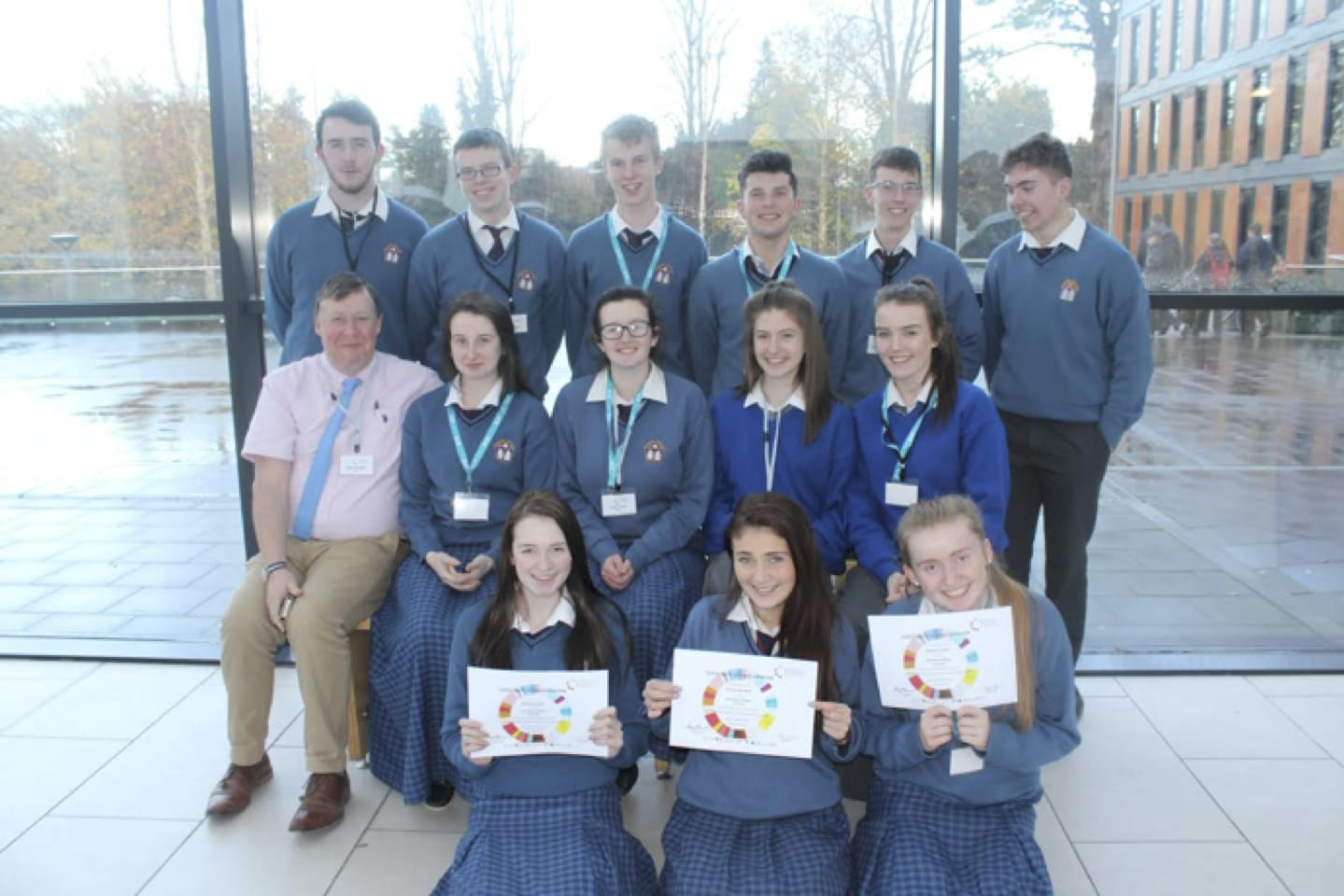 Nov 2016: Senior Cycle Students from Desmond College secondary school with their teacher Donal Enright at the Inaugural Model Start Up Conference in UCC