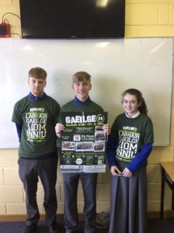 Nov 2016: Desmond College Secondary School winners in the Gaeilge 24 Competition