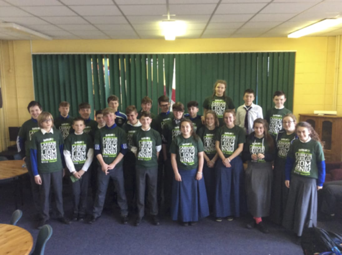 Nov 2016: Desmond College students who participated in Gaeilge 24