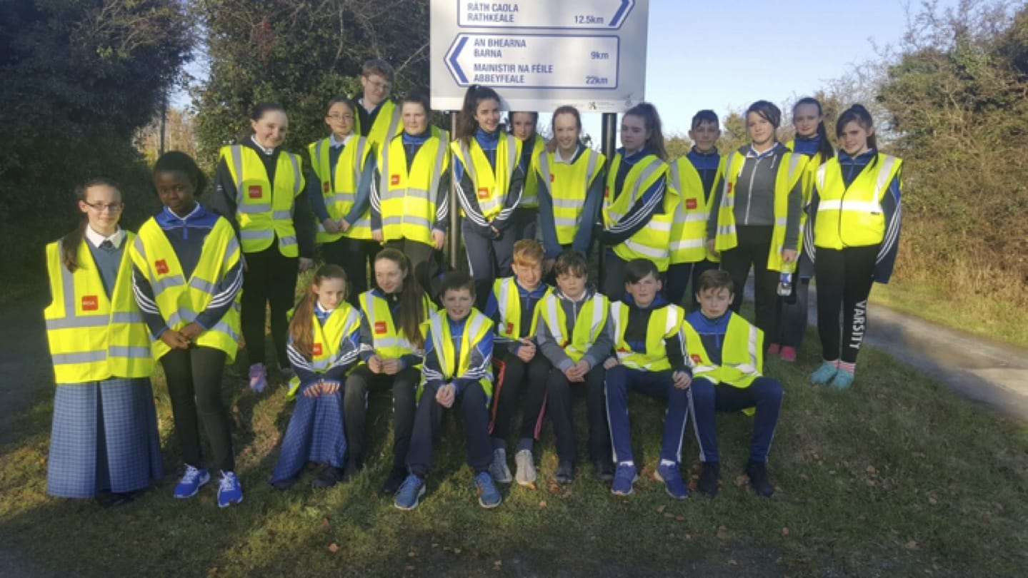 Nov 2016: 1st year PE students participating in the iRun For Fun programme in conjunction with Athletics Ireland