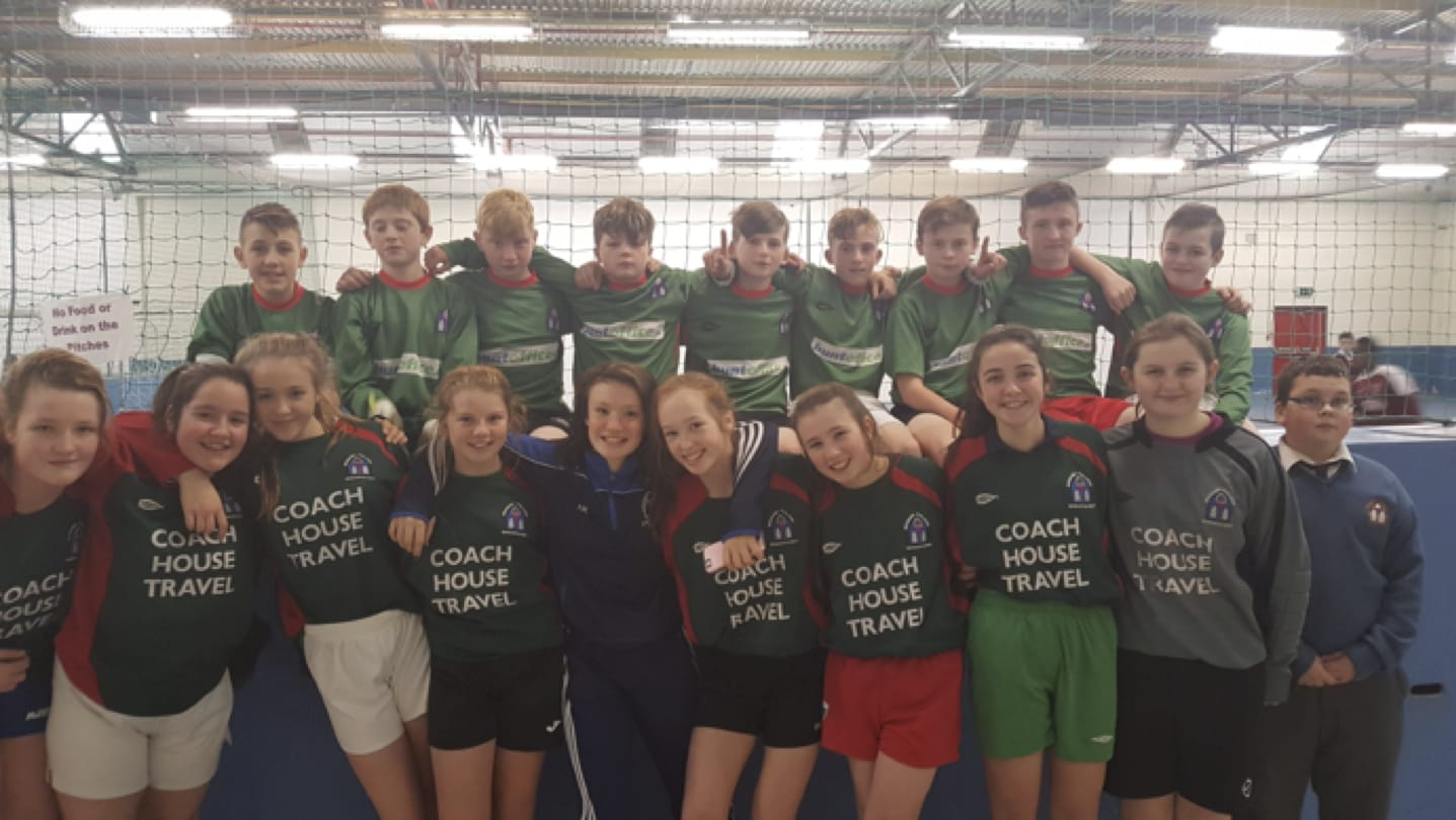 17th Nov 2016: Desmond College First Year Students who participated in University of Limerick Futsal Soccer Competition
