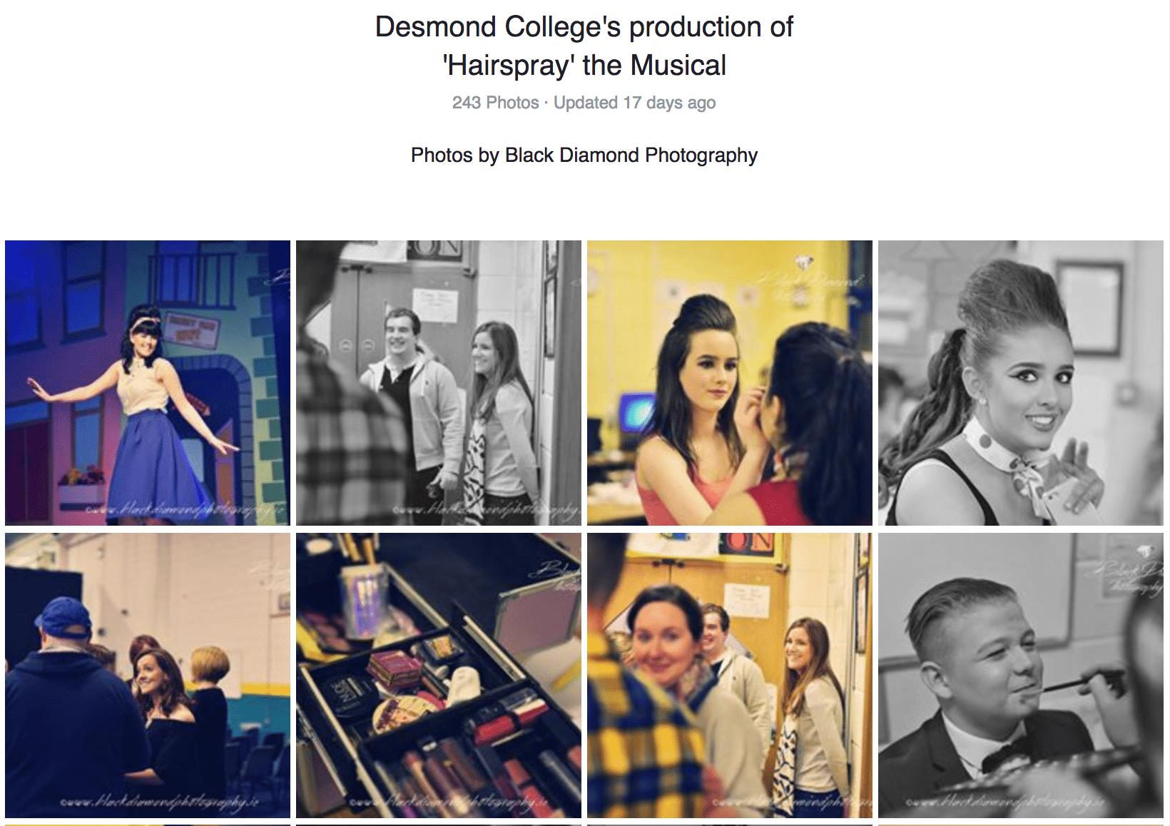 Black Diamond Photography: Photos of Desmond College School Musical Hairspray! Nov 2016
