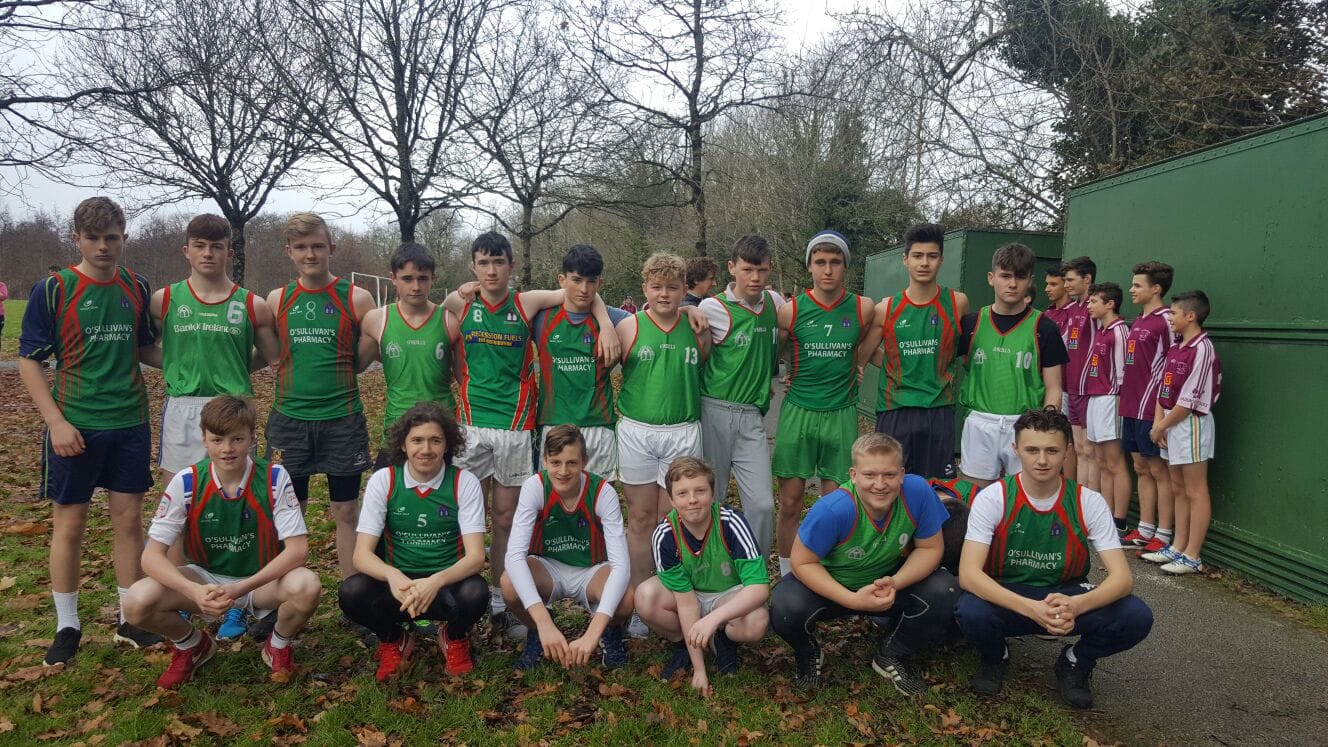 Dec 2016: Desmond College students taking part in the LCETB Cross Country Running competition