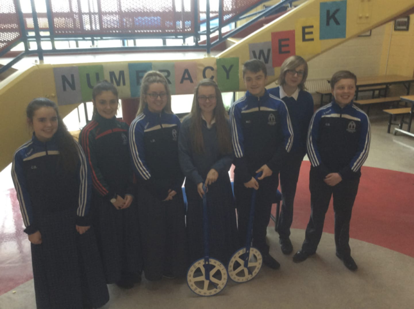 January 2017: The Student Council launched the beginning of the Numeracy Week in Desmond College Post Primary School