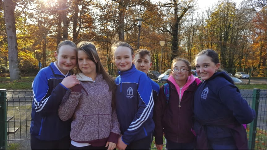 December 2016: Desmond College Students enjoying themselves at the Orienteering Trip to Doneraile