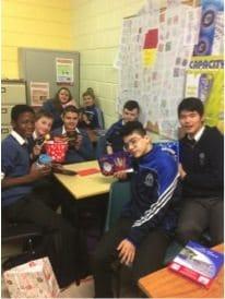 Dec 2016: Second Year Students in Desmond College who participated in Secret Santa