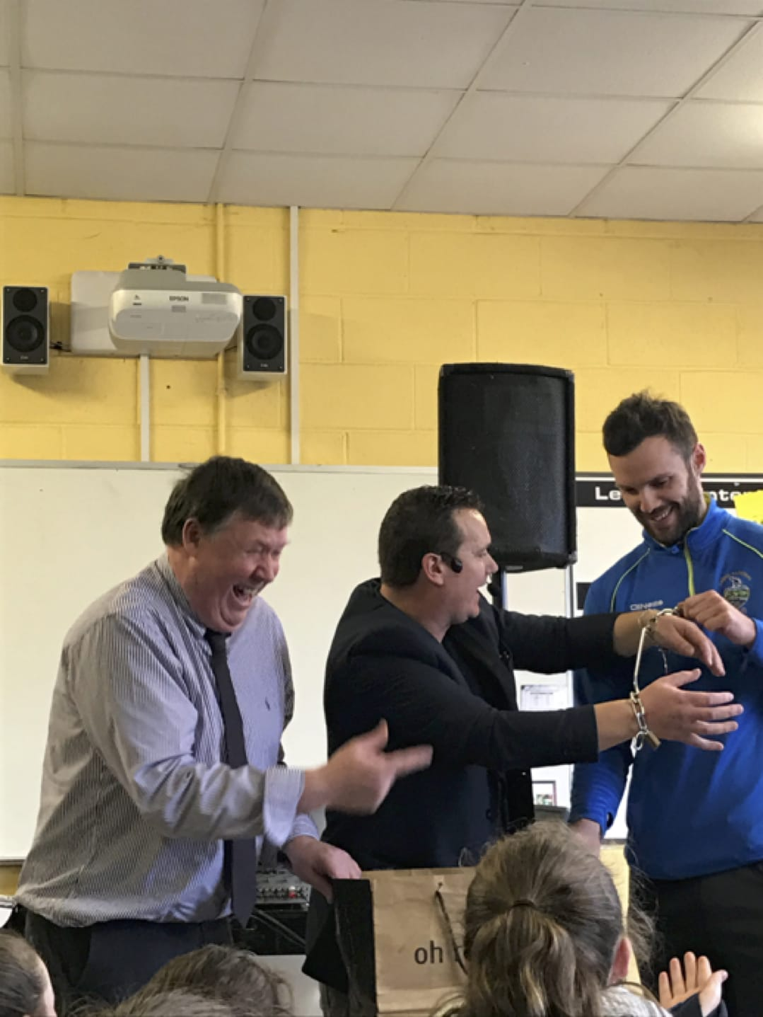 January 2017: Even the teachers  Mr Enright and Mr Murphy got involved in Numeracy Week!