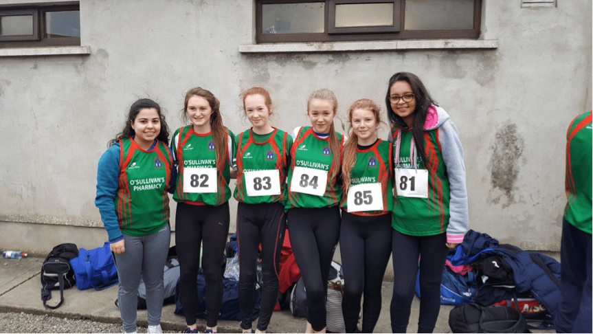 Jan 2017: Desmond College Newcastle West, students participating in the North Munster Athletics Competition