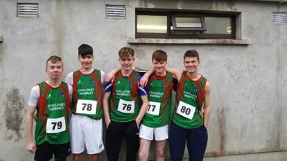 Jan 2017: Desmond College Limerick, students participating in the North Munster Athletics Competition