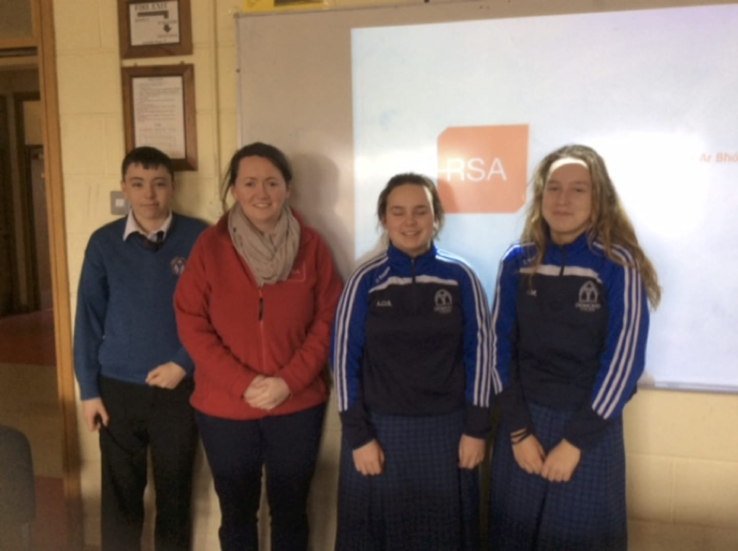Feb 2017: Eileen Cunningham from the Road Safety Authority (RSA) with Transition Year Students