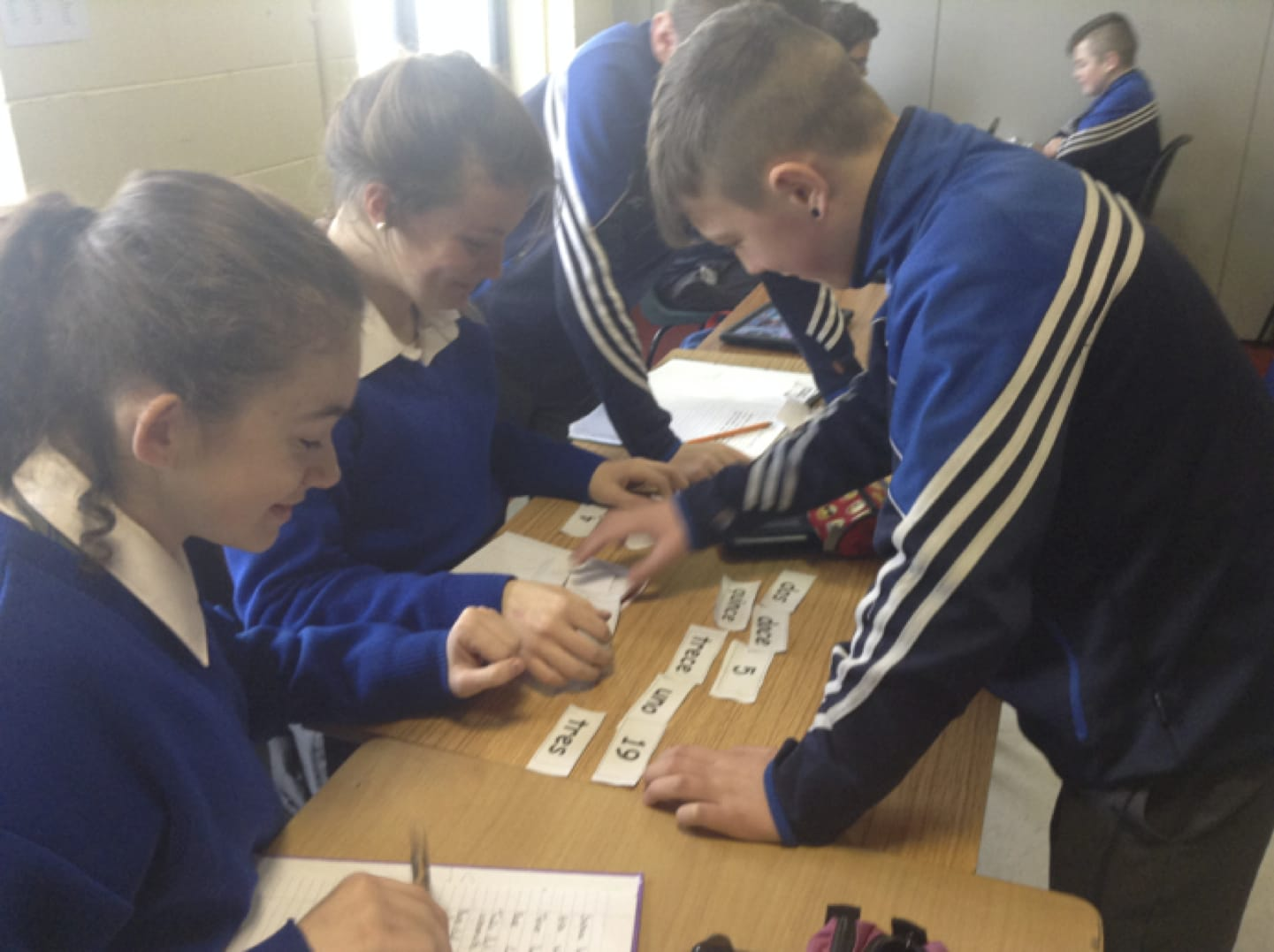 Feb 2017: Desmond College students taking part in numeracy week in Spanish class
