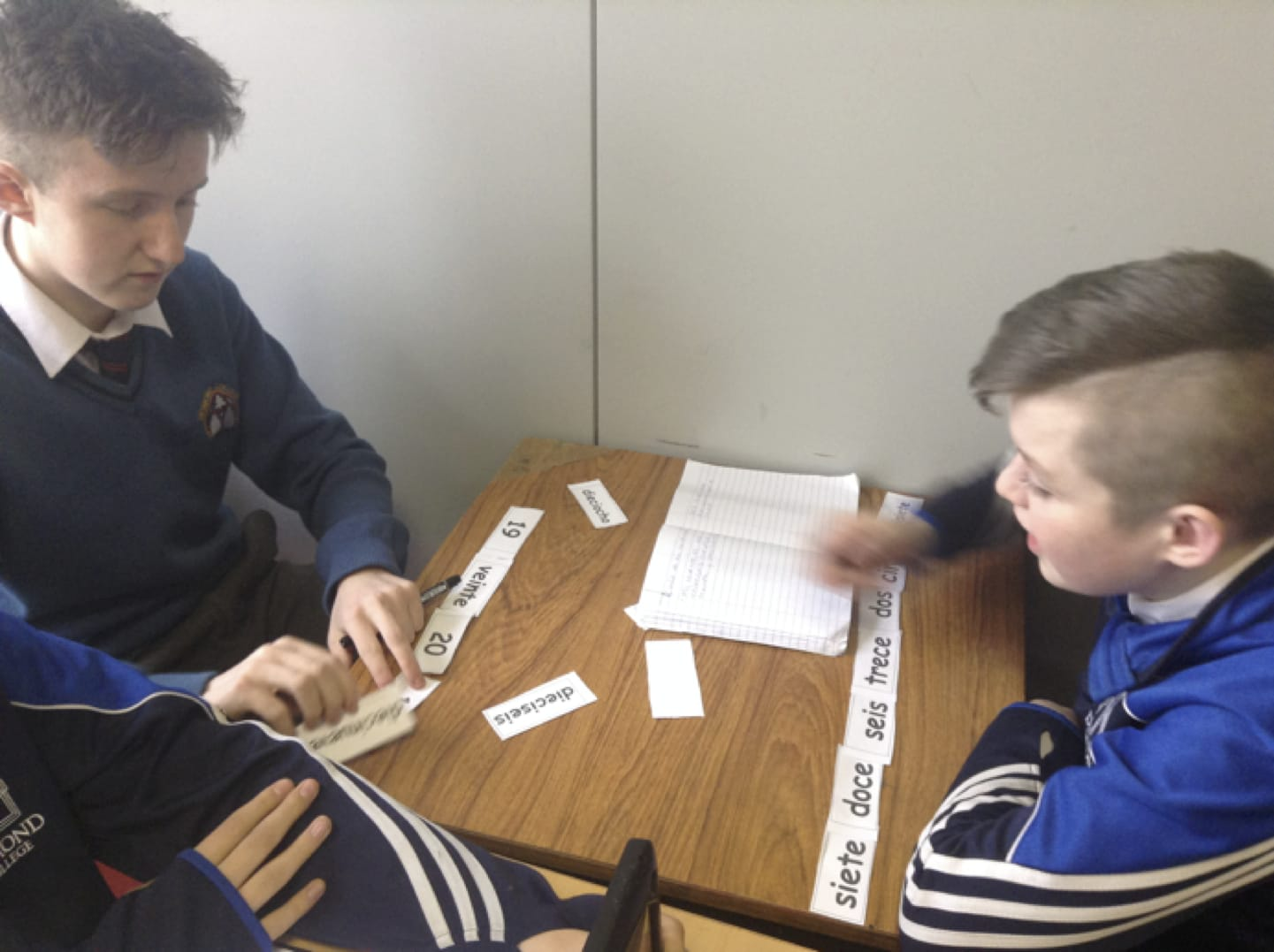 Feb 2017: Desmond College Students taking part in Numeracy activities as part of numeracy week