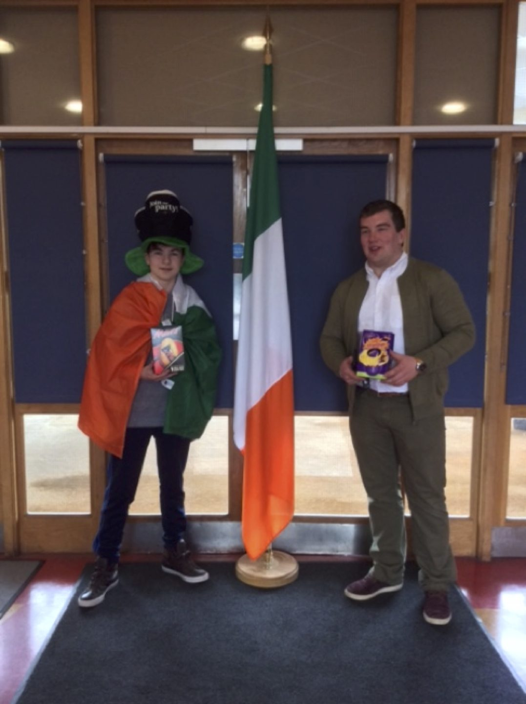 "March 2017: 2nd Year Desmond College Winner of the ""Go Green - Non-Uniform Day"" to celebrate St. Patrick's Day"