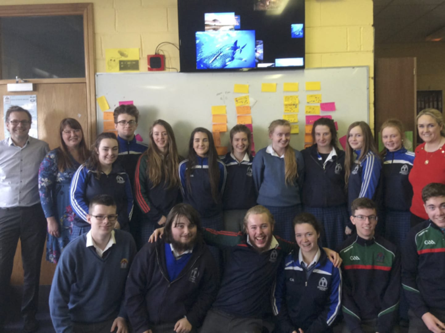 March 2017: 6th Year Desmond College students involved in the Senior Cycle Physical Education App Development Focus Group