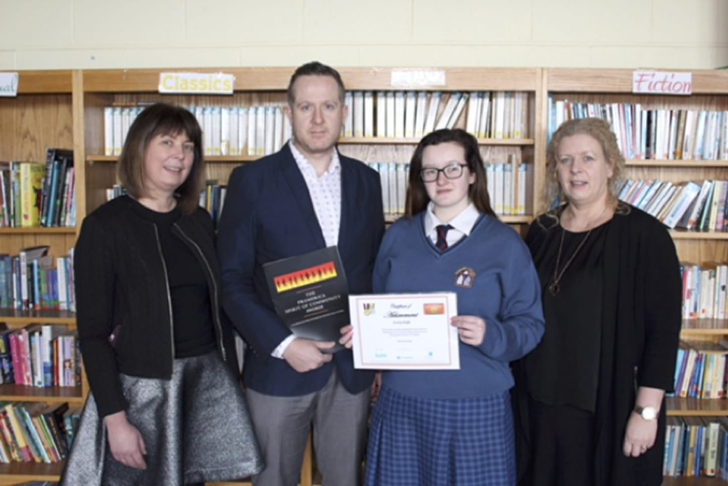 March 2017: Desmond College Student awarded by Pramerica to acknowledge her outstanding volunteer work