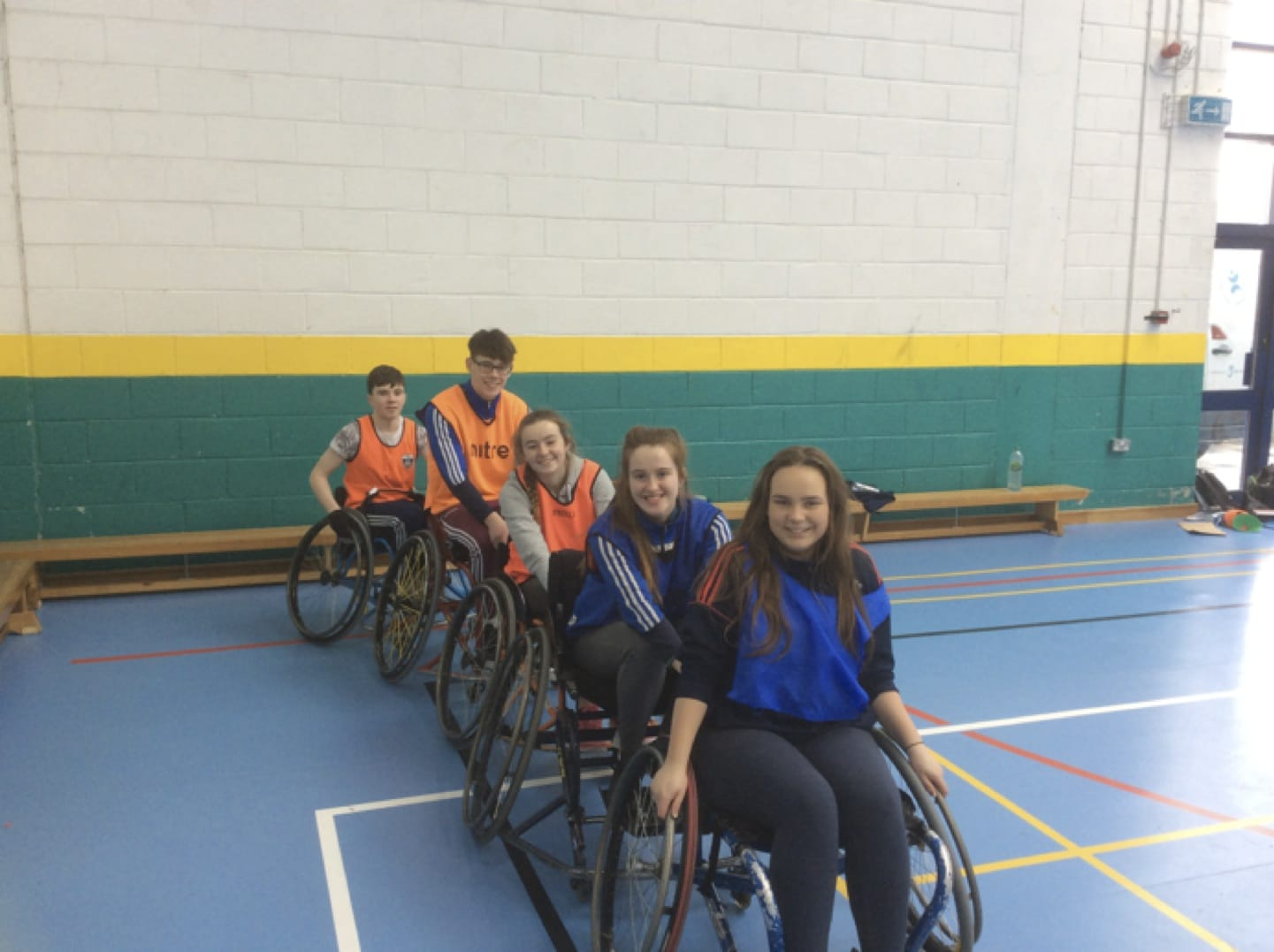 March 2017: TY students in Desmond College taking part in Wheelchair Basketball