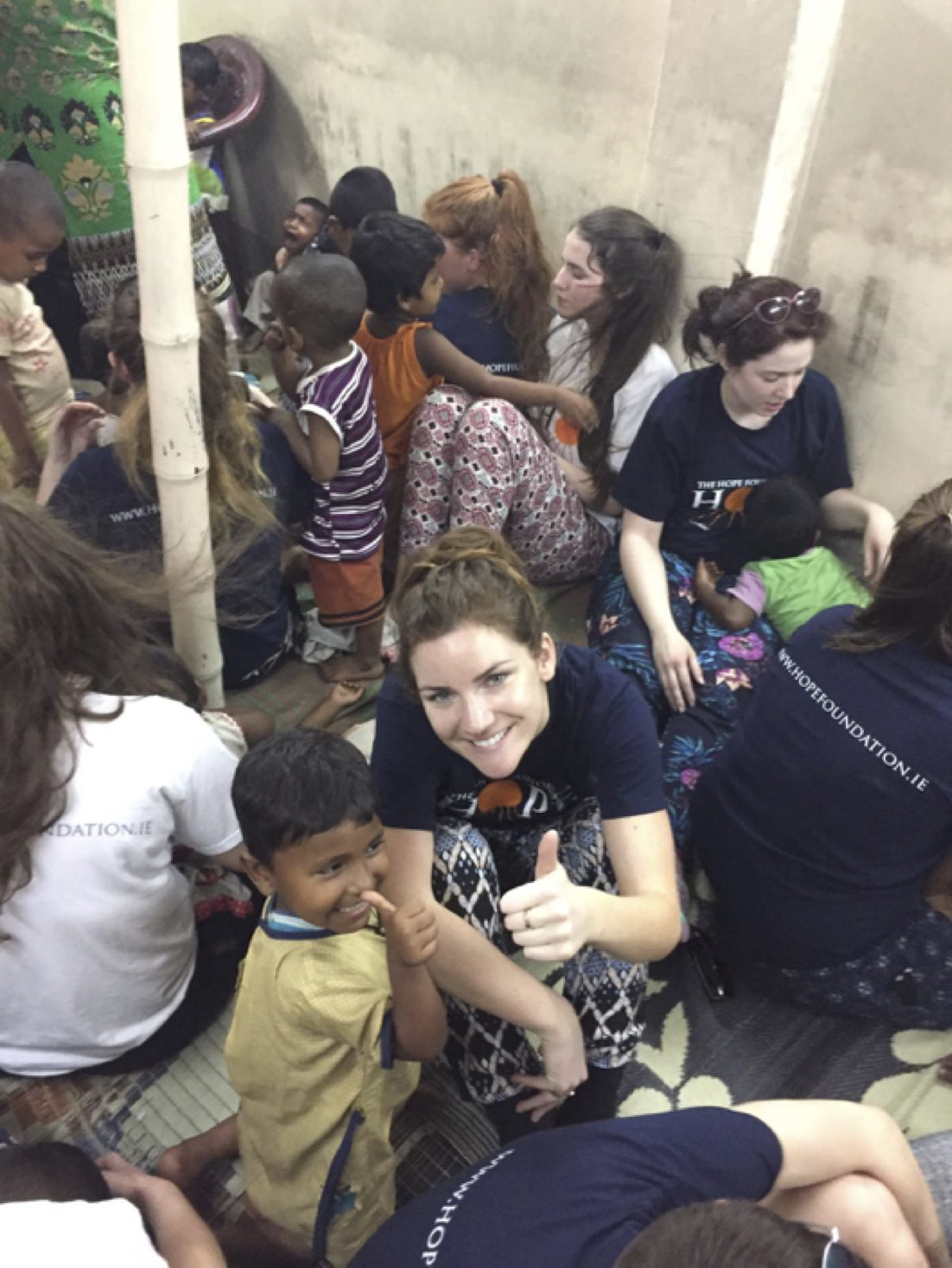 April 2017: Ms Joan Nicholas volunteering with the Hope Foundation in Kolkata