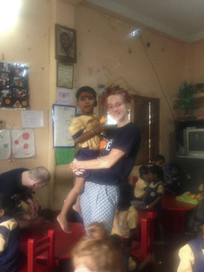 April 2017: Roz Barrett volunteering with the Hope Foundation in Kolkata