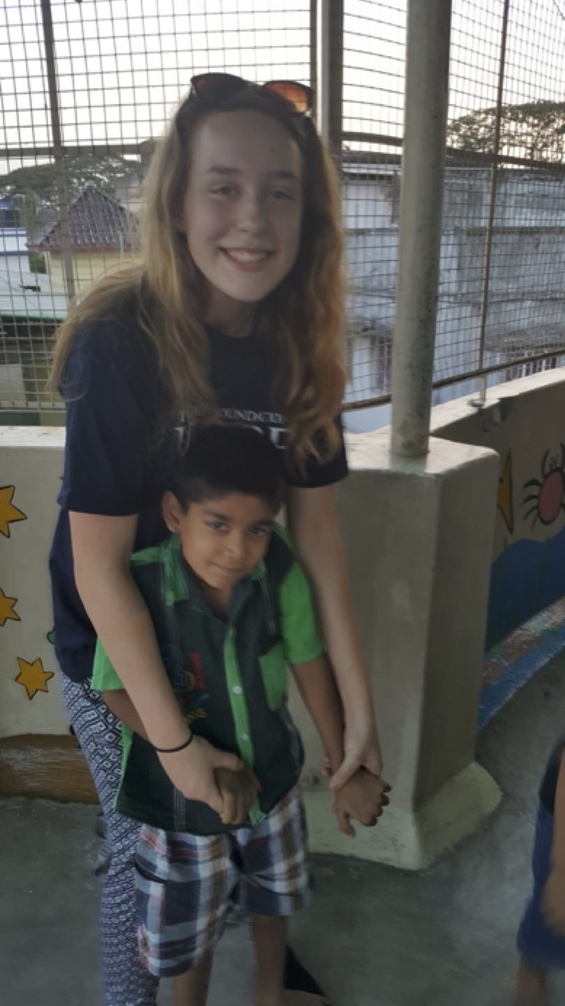 April 2017: Hannah McMahon volunteering with the Hope Foundation in Kolkata