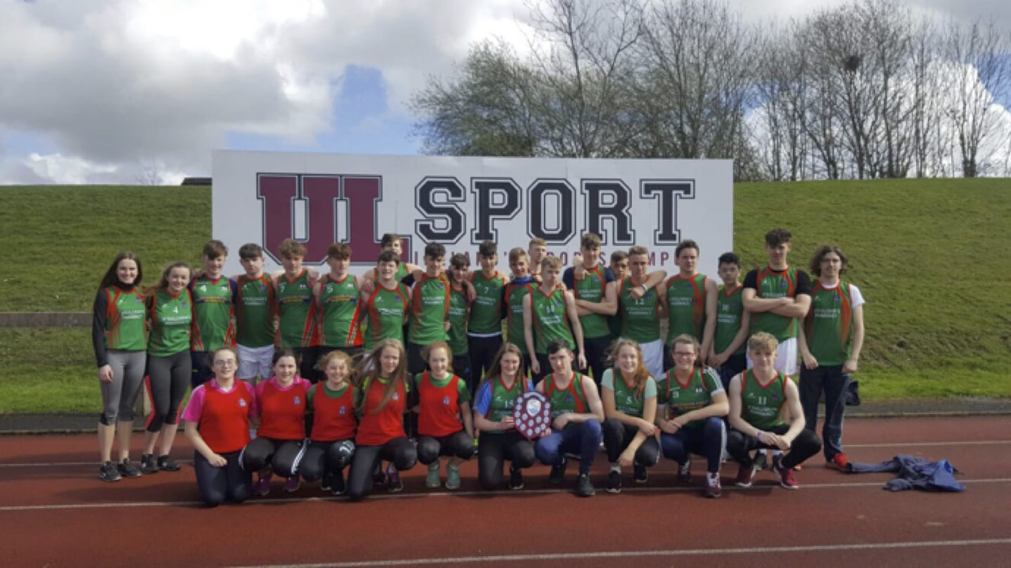 Desmond College students who participated in the LCETB Sports Day held in the University of Limerick.