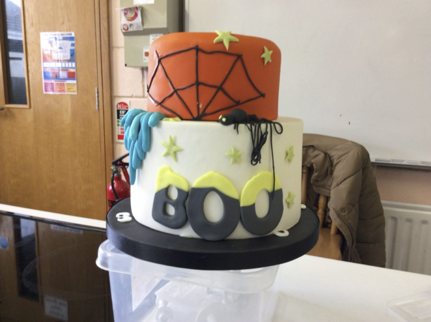 May 2017: The completed cake by the 2nd year home economics class